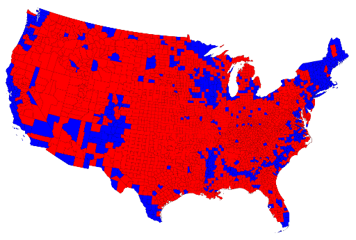 2012 presidential election results by county