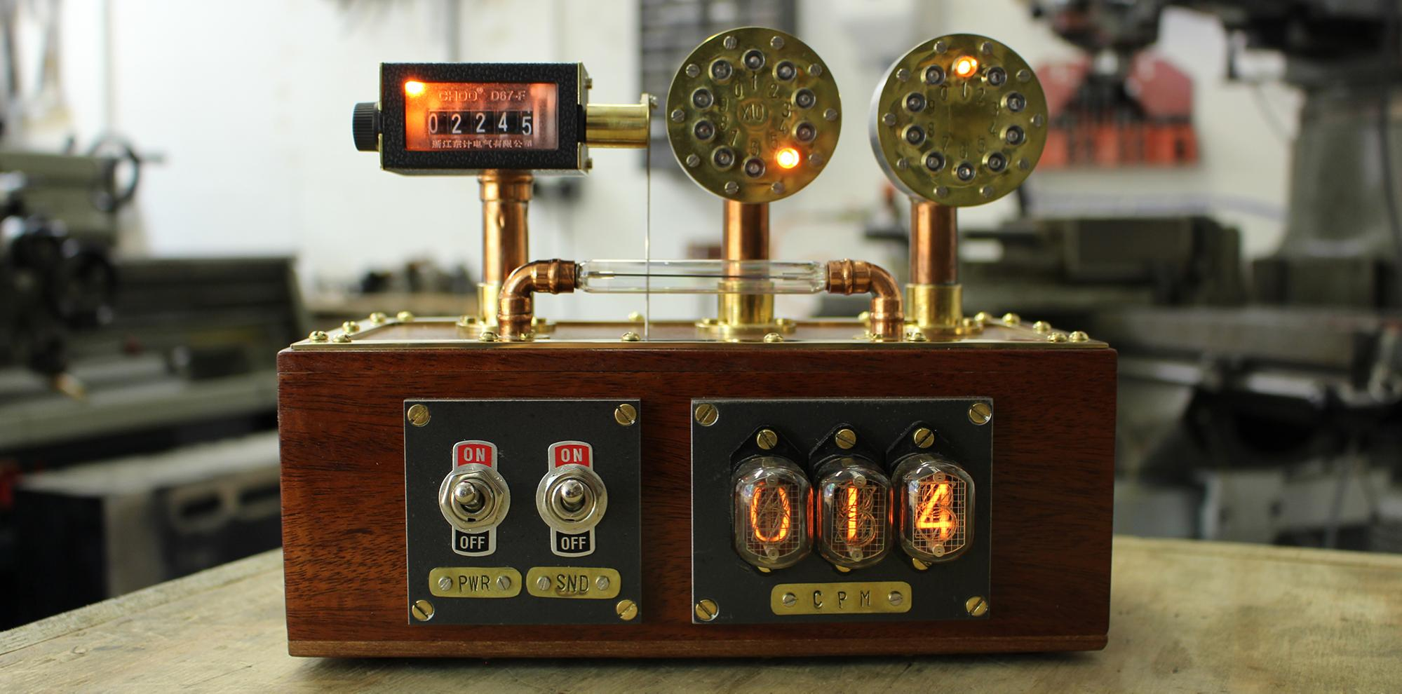 Steampunk-inspired Geiger counter